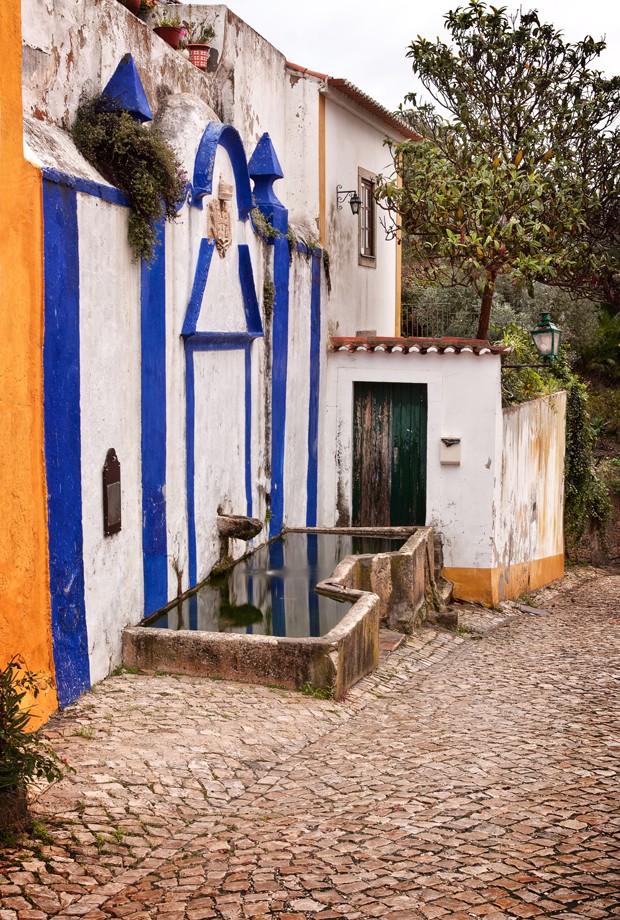 Portugal Cobbled Stone Street