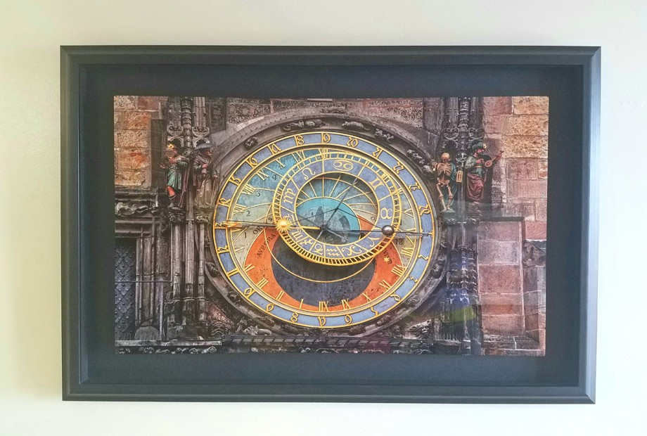 Astronomical Metal 16x24 with wider border in modern frame Prague