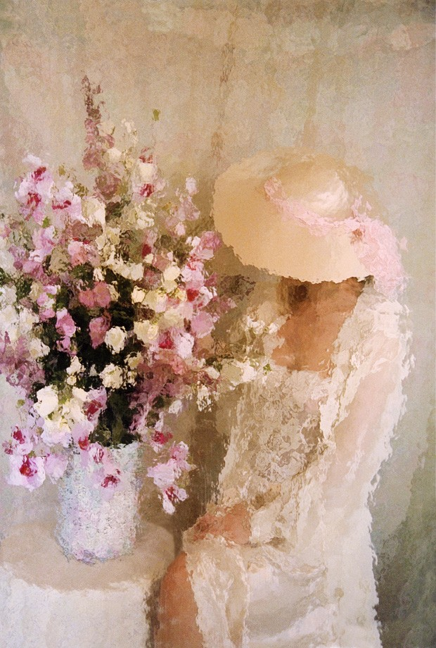 Flowers & Lace 22x28 matted print $15 SALE