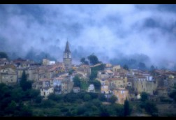 Forcalquier 22x28 matted print SALE $10