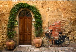 Bicletta, Tuscany 24x36 canvas SALE $125
