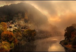 La Dordogne 16x24 canvas wrap matte finish $40 SALE