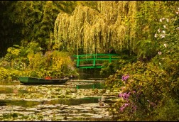 Water Garden Monets 16x24 painted canvas wrap $60 SALE